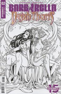 Cover Thumbnail for Barbarella/Dejah Thoris (Dynamite Entertainment, 2019 series) #2 [Cover H Black and White Laura Braga]