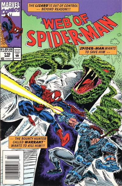 Cover for Web of Spider-Man (Marvel, 1985 series) #110 [Direct Edition]
