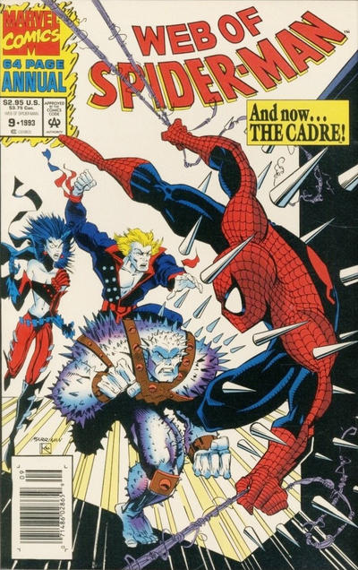 Cover for Web of Spider-Man Annual (Marvel, 1985 series) #9 [Direct]
