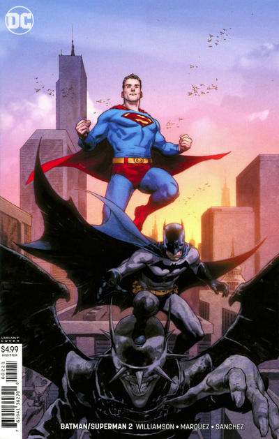 Cover for Batman / Superman (DC, 2019 series) #2 [Jerome Opeña Cardstock Variant Cover]