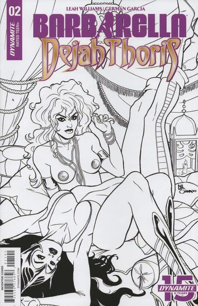 Cover for Barbarella/Dejah Thoris (Dynamite Entertainment, 2019 series) #2 [Cover B Zach Hsieh]