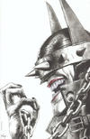 Cover Thumbnail for The Batman Who Laughs (2019 series) #1 [Unknown Comics Mico Suayan Without Background Black and White Virgin Cover]
