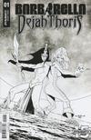 Cover for Barbarella/Dejah Thoris (Dynamite Entertainment, 2019 series) #1 [Cover J Black and White Pasquale Qualano]