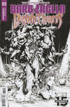 Cover for Barbarella/Dejah Thoris (Dynamite Entertainment, 2019 series) #3 [Cover I Black and White Zach Hsieh]