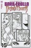 Cover for Barbarella/Dejah Thoris (Dynamite Entertainment, 2019 series) #3 [Cover H Black and White Laura Braga]