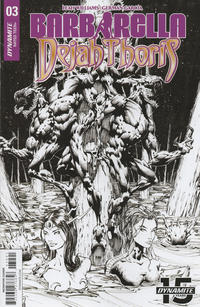 Cover Thumbnail for Barbarella/Dejah Thoris (Dynamite Entertainment, 2019 series) #3 [Cover I Black and White Zach Hsieh]