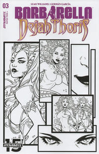 Cover Thumbnail for Barbarella/Dejah Thoris (Dynamite Entertainment, 2019 series) #3 [Cover H Black and White Laura Braga]