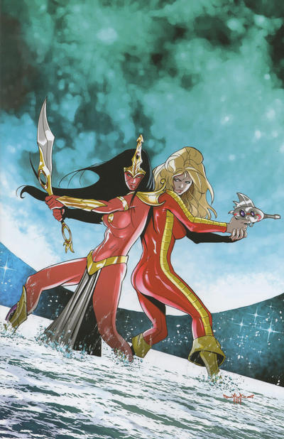 Cover for Barbarella/Dejah Thoris (Dynamite Entertainment, 2019 series) #1 [Cover A Zach Hsieh]