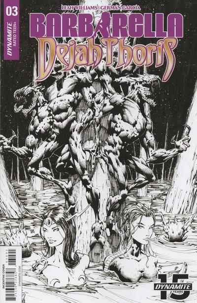 Cover for Barbarella/Dejah Thoris (Dynamite Entertainment, 2019 series) #3 [Cover A Laura Braga]