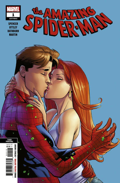 Cover for Amazing Spider-Man (Marvel, 2018 series) #1 (802) [Variant Edition - Unknown Comics Exclusive - Tyler Kirkham Virgin Connecting Cover]