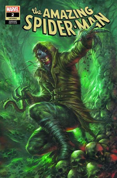 Cover for Amazing Spider-Man (Marvel, 2018 series) #2 (803) [Variant Edition - ComicXposure Exclusive - Lucio Parrillo Virgin Cover]