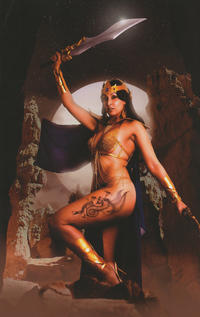 Cover Thumbnail for Barbarella/Dejah Thoris (Dynamite Entertainment, 2019 series) #4 [Cover K Virgin Cosplay]