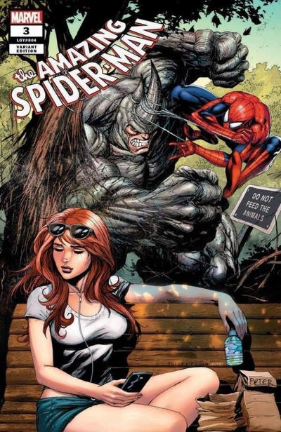 Cover for Amazing Spider-Man (Marvel, 2018 series) #3 (804) [Variant Edition - Terrificon Exclusive - Chris Stevens Cover]