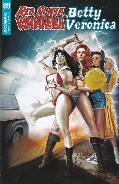 Cover for Red Sonja and Vampirella Meet Betty and Veronica (Dynamite Entertainment, 2019 series) #9 [Incentive Virgin Art Cover Dan Parent]