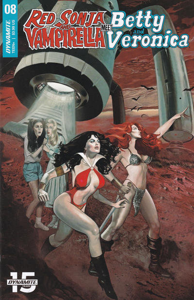 Cover for Red Sonja and Vampirella Meet Betty and Veronica (Dynamite Entertainment, 2019 series) #8 [Cover A Fay Dalton]
