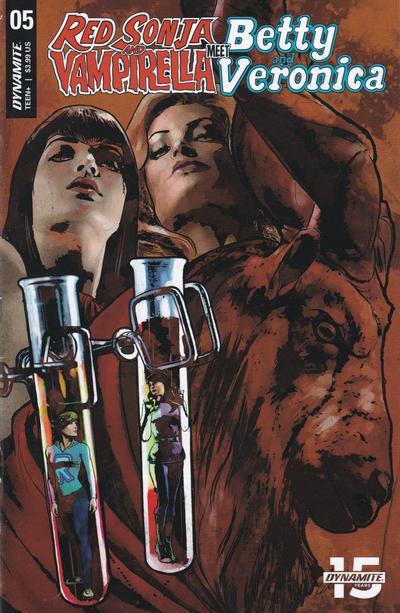 Cover for Red Sonja and Vampirella Meet Betty and Veronica (Dynamite Entertainment, 2019 series) #5 [Cover B Robert Hack]
