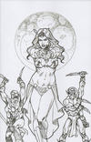 Cover for Dejah Thoris (Dynamite Entertainment, 2019 series) #2 [Joseph Michael Linsner Black and White Virgin FOC Bonus]