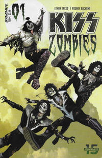 Cover Thumbnail for KISS: Zombies (Dynamite Entertainment, 2019 series) #1 [Cover A Arthur Suydam]