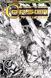 Cover Thumbnail for Edgar Rice Burroughs' Carson of Venus: The Flames Beyond (American Mythology Productions, 2019 series) #1 [Limited Edition Black and White Cover]