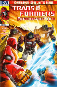 Cover Thumbnail for Transformers: Regeneration One (IDW, 2012 series) #100 [Cover A - Andrew Wildman]