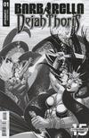 Cover for Barbarella/Dejah Thoris (Dynamite Entertainment, 2019 series) #1 [Cover I Black and White Tom Feister]