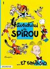 Cover for Les Aventures de Spirou et Fantasio (Dupuis, 1950 series) #1 - 4 aventures de Spirou et Fantasio [reprint 1993]