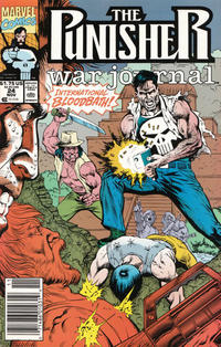 Cover Thumbnail for The Punisher War Journal (Marvel, 1988 series) #24 [Newsstand]
