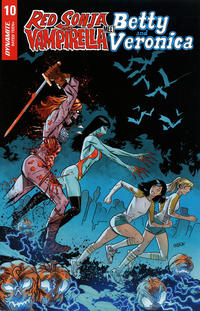 Cover Thumbnail for Red Sonja and Vampirella Meet Betty and Veronica (Dynamite Entertainment, 2019 series) #10 [Cover F Juan Gedeon]