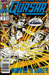 Cover for Quasar (Marvel, 1989 series) #10 [Newsstand]