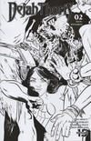 Cover for Dejah Thoris (Dynamite Entertainment, 2019 series) #2 [Incentive Black and White Cover Erica Henderson]