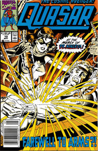 Cover Thumbnail for Quasar (Marvel, 1989 series) #10 [Newsstand]