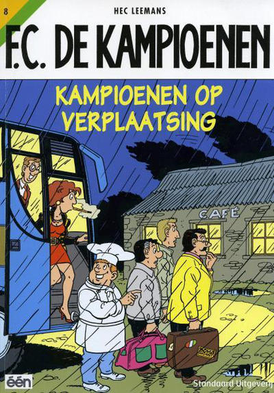 Cover for F.C. De Kampioenen (Standaard Uitgeverij, 1997 series) #8 - Kampioenen op verplaatsing [Herdruk 2002]