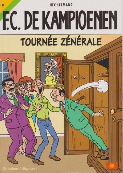 Cover for F.C. De Kampioenen (Standaard Uitgeverij, 1997 series) #9 - Tournée zénérale [Herdruk 2003]