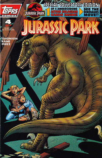 Cover for Jurassic Park (Topps, 1993 series) #4 [Special Collectors Edition]