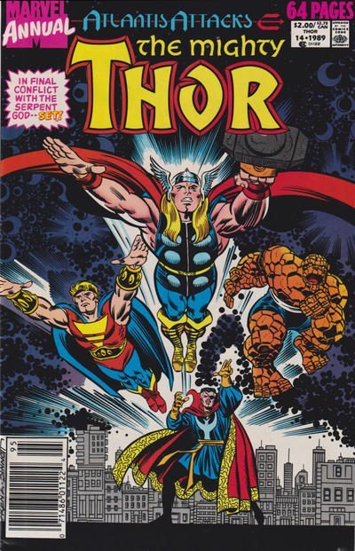 Cover for Thor Annual (Marvel, 1966 series) #14 [Newsstand]