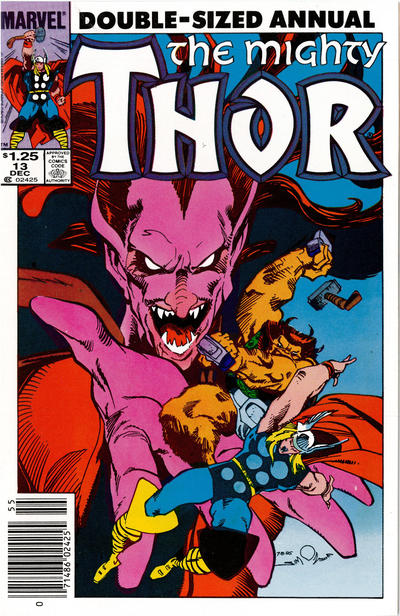 Cover for Thor Annual (Marvel, 1966 series) #13 [Newsstand]