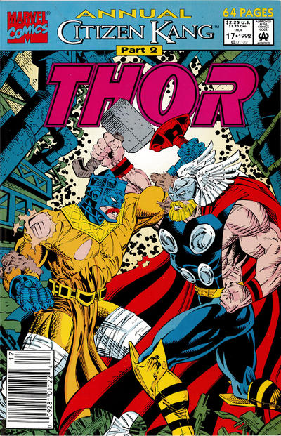 Cover for Thor Annual (Marvel, 1966 series) #17 [Newsstand]