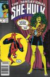 Cover for The Sensational She-Hulk (Marvel, 1989 series) #3 [Newsstand]