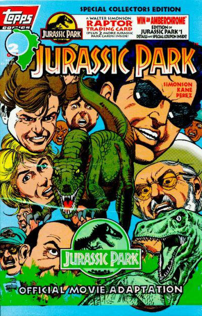 Cover for Jurassic Park (Topps, 1993 series) #2 [Newsstand]