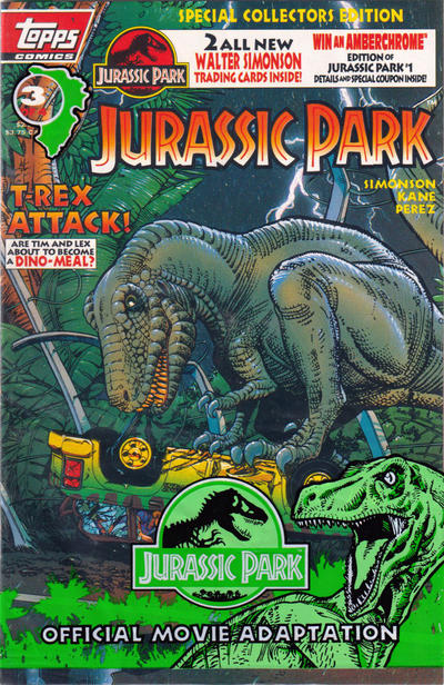 Cover for Jurassic Park (Topps, 1993 series) #3 [Special Collectors Edition]