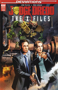 Cover Thumbnail for Judge Dredd: Deviations (IDW, 2017 series) #1 [X-Files Mashup Variant]