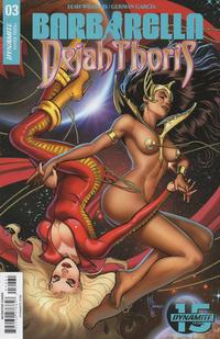 Cover Thumbnail for Barbarella/Dejah Thoris (Dynamite Entertainment, 2019 series) #3 [Cover F Maria Sanapo]