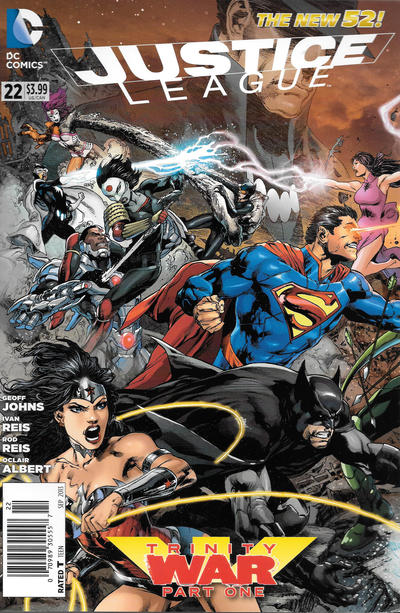Cover for Justice League (DC, 2011 series) #22 [Brett Booth / Norm Rapmund Cover]