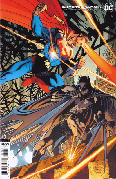 Cover for Batman / Superman (DC, 2019 series) #7 [Andy Kubert Cardstock Variant Cover]