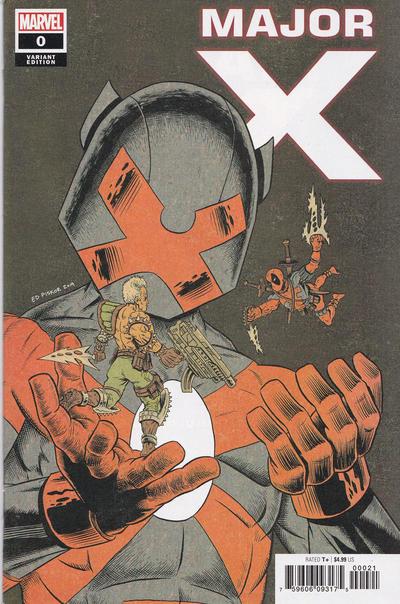Cover for Major X (Marvel, 2019 series) #0 [Ed Piskor]
