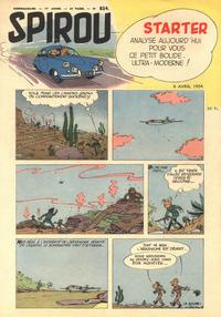 Cover Thumbnail for Spirou (Dupuis, 1947 series) #834