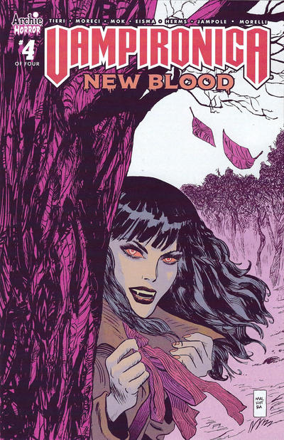 Cover for Vampironica: New Blood (Archie, 2020 series) #4 [Cover B Vic Malhotra]