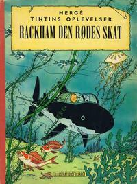 Cover Thumbnail for Tintins oplevelser (Illustrationsforlaget, 1960 series) #12 - Rackham den Rødes skat