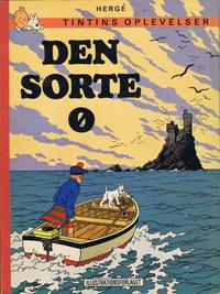 Cover for Tintins oplevelser (Illustrationsforlaget, 1960 series) #15 - Den sorte ø [4. oplag]