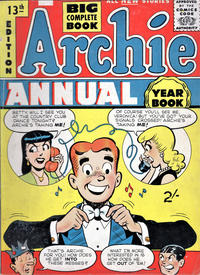 Cover Thumbnail for Archie Annual (Gerald G. Swan, 1950 series) #13